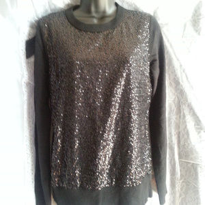 Kate Spade Wool Sequin Black Sweater NWT SZ:M